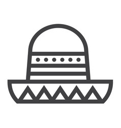 sombrero mexican hat line icon travel and tourism vector image
