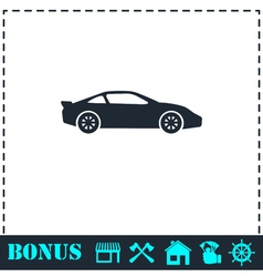 Sport car icon flat vector image vector image