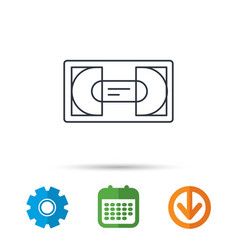 Video cassette icon vhs tape sign vector