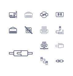 13 adapter icons vector