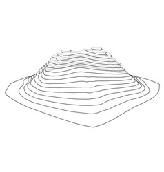 abstract digital landscape outline vector image