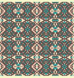 Abstract geometric pattern with ethnic motives vector