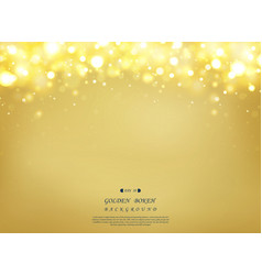abstract golden background with glitters vector image