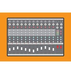 Analog audio mixer vector