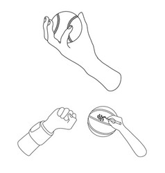 Animated and thumb symbol vector