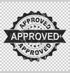 Approved scratch seal stamp icon approve accepted vector