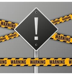 Attention warning road sign vector
