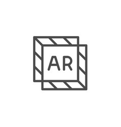 Augmented reality overlay line outline icon vector