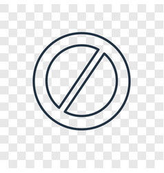 Banned concept linear icon isolated on vector