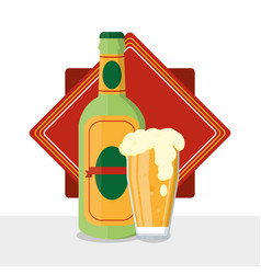 Bar drinks concept vector