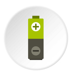 Battery icon circle vector