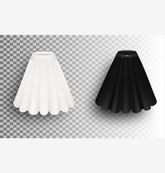 Black and white fluffy skirt mockup set vector