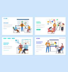 business site templates business school mentors vector image