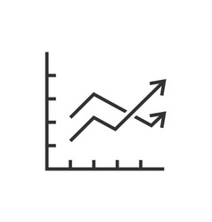 Chart graph with two arrows vector