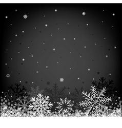 Christmas black background vector