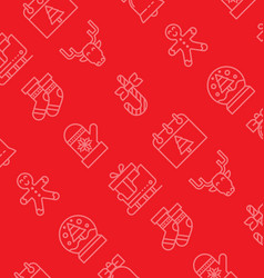 christmas icon pattern vector image