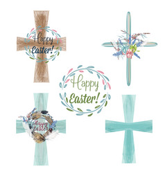 collection vecotr easter crest for design vector image