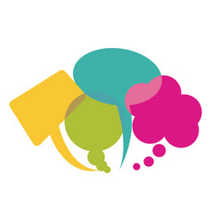 Colorful collection speech bubbles and dialog vector