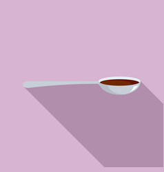 Cough syrup spoon icon flat style vector