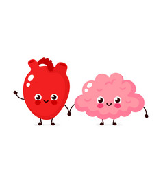 cute healthy happy human brain vector image