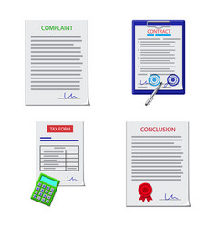 design of form and document symbol vector image