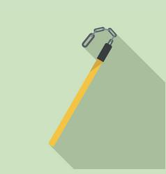 fiberglass stick icon flat style vector image