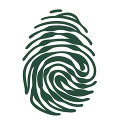 Fingerprint with access padlock shape vector image