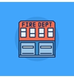 Fire department flat icon vector image