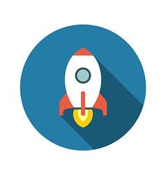 Flat Startup Rocket Beginning Fly Up Start vector image
