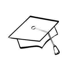 Graduation cap icon University design vector
