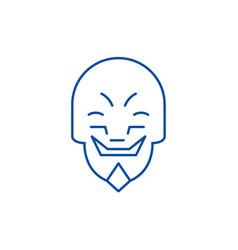 grimacing mask emoji line icon concept grimacing vector image
