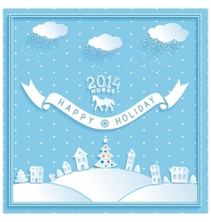 Happy new year retro greetings holiday vector