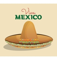 Hat mexican beige color design vector