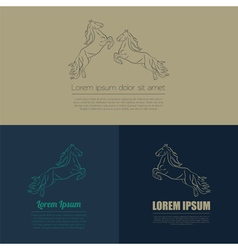 Horse logo and badges templates vector image