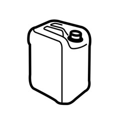 icon of plastic canister vector image