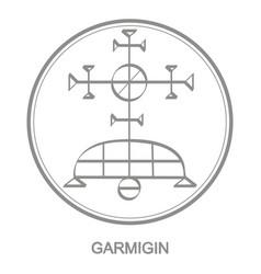 Icon with symbol demon garmigin vector
