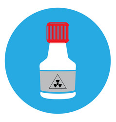 Isolated chemical bottle vector