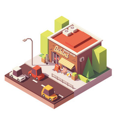 Isometric beach shop vector