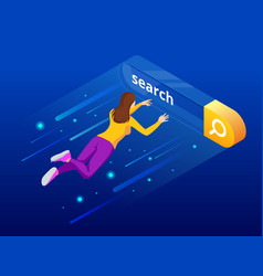 Isometric search bar modern concept search engine vector