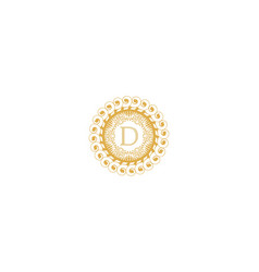 Letter d initial logo for wedding boutique luxury vector