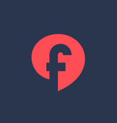 Letter f speech bubble logo icon design template vector