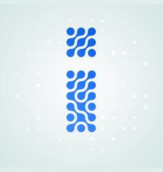 letter i logo halftone icon vector image