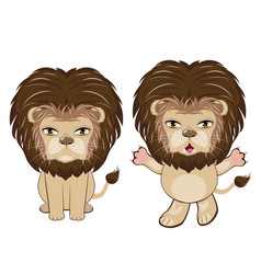 Lion sitting pose vector
