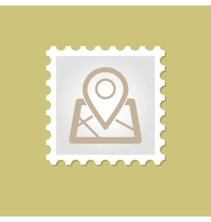 Map Marker stamp vector