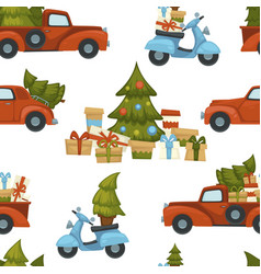 merry christmas holiday celebration and vector image