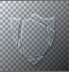 Modern concept broken shield glass on vector
