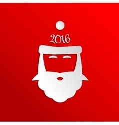 Paper Santa Claus Icon vector image