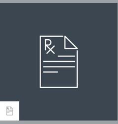 prescription icon vector image