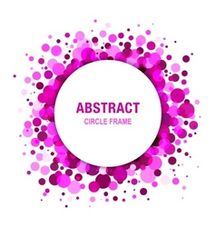 Purple Abstract Circle Frame Design Element vector image