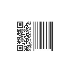 Qr and barcode mixed scanning scan me concept vector